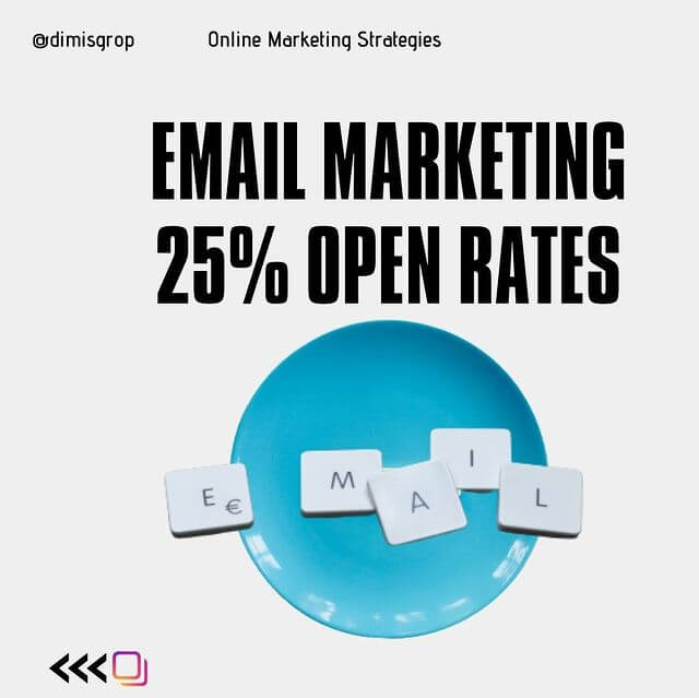 Email marketing - 25% open rates